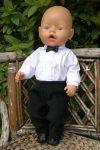 Elegáns fiú öltözék ( 3 részes ) , játékbaba ruha