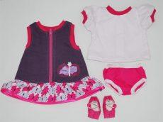 Lila farmerruhás csomag játékbabáknak
