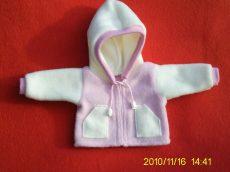 Polár kabát játékbabára több színben