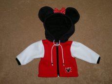 Minnie kabát, játékbaba ruha