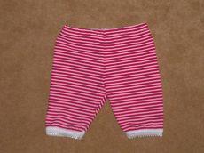 Pink csíkos capri nadrág játék babáknak