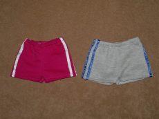Sport rövid nadrág két színben, játékbaba ruha