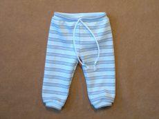 Megkötős kék csíkos nadrág játékbabáknak
